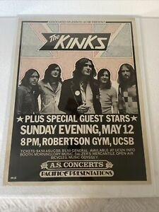 The Kinks Santa Barbara Concert Poster (Associated Students UCSB, 1974) Original