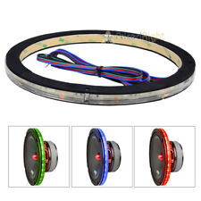 "DS18 Single 8"" Speaker Ring RGB LED 1/2"" 1.5"" Spacer Waterproof Light LRING8"