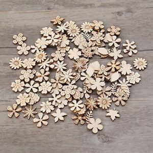 Mini Wooden Embellishments Small Shapes Craft Decoration Scrapbook Weddings SG