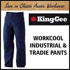 KING GEE WORKCOOL INDUSTRIAL WORK PANTS / TROUSERS - K13800 - 17 SIZES AVAILABLE