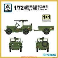 S-model 1/72 PS720046 Willys MB & Trailer (1+1)
