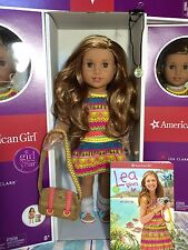 """American Girl LEA 18"""" Doll of Year 2016 + Book + Necklace + Messenger Bag Leah"""