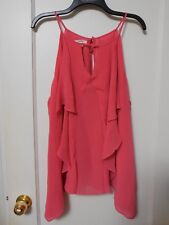 NWT MAURICES CORAL Spaghetti Strap Blouse Size 3 - MSRP $29