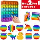 Push Pop it Rainbow New Silicone Sensory Fidget Toy Pop Bubble Stress Relief