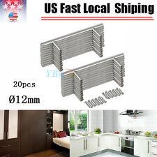 20x Stainless Steel Handle Pulls Kitchen Cabinet Door Knob T Bar Cupboard Drawer
