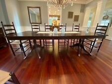 Ea Clore and Sons Mahogany Dining Room Table with 10 Chairs and Buffet