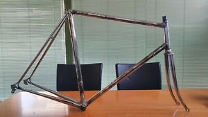 SCAPIN vintage italian steel road frameset COLUMBUS stripped