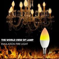 E27/E14 LED Flammen Effekt Feuer Glühbirnen Flackernd Emulation Dekor Lampe