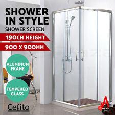 Cefito Square Shower Screen Enclosure Sliding Doors Corner Quadrant 900x900mm