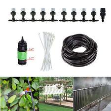 10m/33' 1/4'' PE hose Garden Patio Misting Cooling System 10 plastic Mist Nozzle