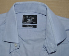 Charles Tyrwhitt luz púrpura Algodón Camisa Tamaño 16 doble puño Jermyn Street