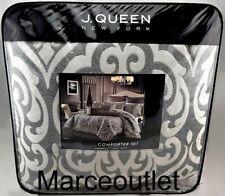 J. Queen New York Tribeca King Comforter, Shams & Skirt Set Charcoal
