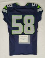 Seattle Seahawks Blank #58 Team Issued Worn Home Jersey with COA - SA 09300