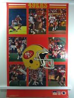 Vintage San Francisco 49ers NFL Poster by Starline ~ 1987 ~ Full size 22 x 34