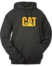 Caterpillar CAT Cw10646 Trademark Mens Hooded Sweatshirt Hoodie With Pockets Black XL