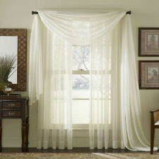 """PLAIN CREAM VOILE FABRIC+60"""" WIDE+FREE POSTAGE+NETS+SCARF+SWAG+DRAPES+"""