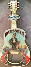 Hard Rock Cafe BRUSSELS 2014 Guitar MAGNET Bottle Opener V14 City Icons! New!