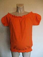 GIGGLES MATERNITY BRIGHT CORAL BARDOT T-SHIRT TOP SIZE 12 14 16 18 20 NEW