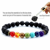 7 Chakra Healing Beaded Bracelets Lava Stone Reiki Bracelets Gift For Women Men