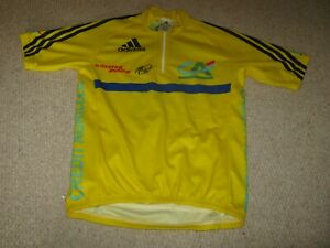 Le Dauphine Libere 2006 Adidas Yellow Leaders cycling jersey (S adult) BNW/OT