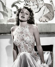 RITA HAYWORTH FAMOUS ACTRESS DANCER 1940'S 8X10 GLOSSY PHOTO PHOTOGRAPH