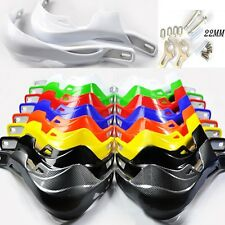 """7/8"""" 22mm Dirt Bike ATV Motorcycle Decorate Protect Hand Guards Handguards White"""
