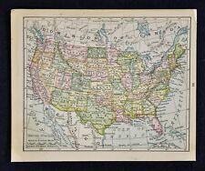 1900 McNally Map - United States - Texas California New York Florida Colorado Us