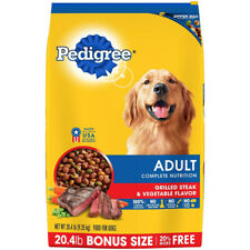 Pedigree Adult Dry Dog Food - Grilled Steak & Vegetable Flavor By Pedigree New