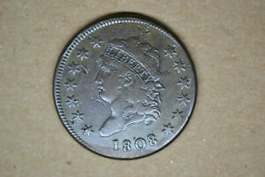 1808 Classic Head Large Cent- Strong VF.   RARE DATE!
