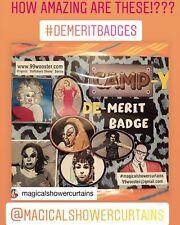 6 piece Camp-y Baltimore Divine Parody de-Merit Badge John Waters Pink Flamingos