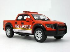 "5"" Kinsmart 2013 Ford F-150 SVT Raptor SuperCrew Fire Rescue Diecast Model 1:46"