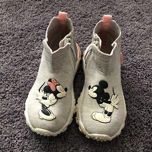 Zara Baby Disney Minnie And Mickey Sock Trainers Size 26