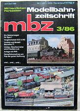 MBZ Modellbahn Zeitschrift 1986 3 Geisterwagen Spur 1 Ratgeber Fotos Tipps Info