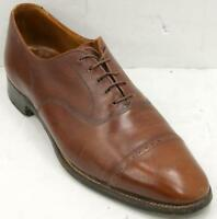 """Brooks Brothers English """"The Curzon"""" Men's Brown Leather Captoe Oxford Sz 10 C"""