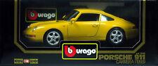 5 BURAGO PORSCHE 911 CARRERA 1993 JAUNE N°3060