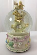 Three Jays Imports JJJ Musical Snow Water Globe Baby Rocking Giraffe Nursery HTF