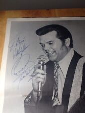 Autographed Early Conway Twitty Program Centerfold With Other Member Signatures