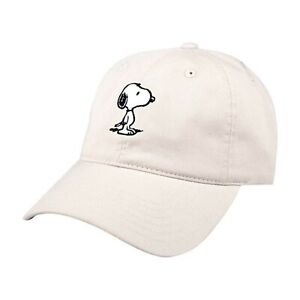 Peanuts Snoopy Dad Hat Beige Adjustable Strap NWT