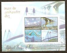 India 2007 Landmark Gandhi Bridges Phila-2421 M/s MNH