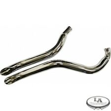 LA Choppers Chrome 187 Custom Slash Cut Exhaust for AMERICAN IRONHORSE MODELS
