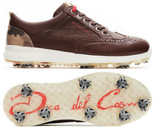 Duca Del Cosma Heritage Spiked Golf Shoes - RRP£200 - ALL SIZES -Chocolate Brown