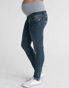 Ladies Petite Skinny Over Bump Maternity Jeans Pregnancy Size 16, 18  Short Leg