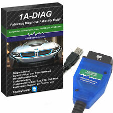 OBD2 USB Diagnosegerät Interface für BMW Inpa, NCS Expert, Rheingold + Software