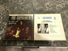 Supremes And Righteous Brothers Prerecorded Reel To Reel Tapes- Good Condition!
