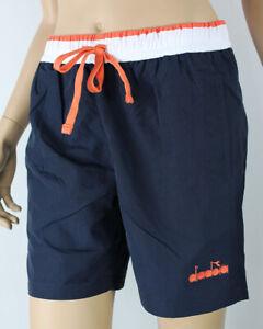 Diadora Costume da Bagno pantaloncino beach short chromia Blu con tasche