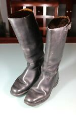 WW2 German Officer's Boots Converted To West German. Leather Soles Sz 40 US 9.5