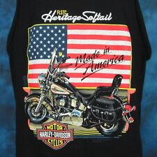 vintage 90s HARLEY DAVIDSON MOTORCYCLE FLSTC TANK TOP T-Shirt LARGE biker usa