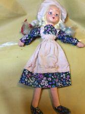 Bambola In Pezza E Celluloide O Plastica Vintage Alta 50 Cm Circa