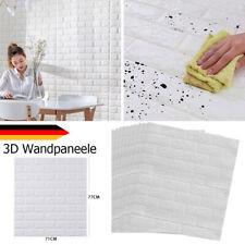 10 Stück 3D Tapete Selbstklebend Wandpaneele Wandaufkleber Steinoptik Wasserfest