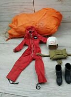 Vintage Action Man Red Devil Parachutist Outfit and most accessories